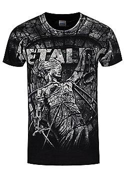 Metallica Stoned Justice Men's Black T-shirt - Black