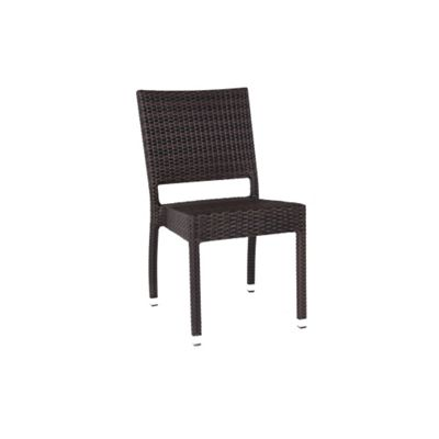 BrackenStyle Ascot Rattan Side Chair - Black