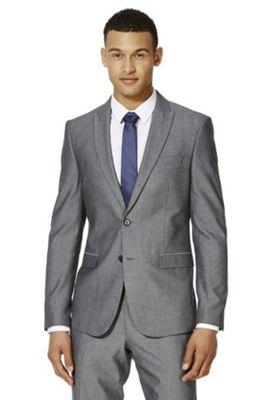 F&F Slim Fit Suit Jacket 42 Chest short length Grey