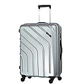 Carlton Stellar 4-Wheel Hard Shell Silver Large Suitcase