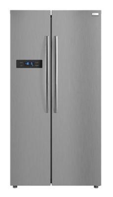 Russell Hobbs Stainless Steel 89.5cm wide, 178.8 High, American Style Freestanding Fridge Freezer, RH90FF176SS