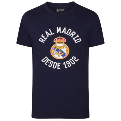 Real Madrid Mens Graphic T-Shirt Navy Small