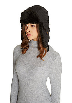 F&F Quilted Trapper Hat with Thinsulate™ - Black