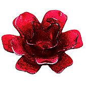 Red Flower Tealight Holder