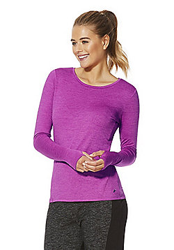 F&F Active Soft Touch Long Sleeve Sports Top - Bright pink