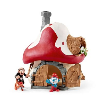 Schleich 20803 - The Smurfs Smurf House with Papa Smurf, Gargamel and Azrael