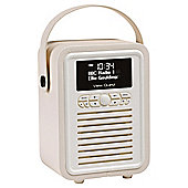 VQ Retro Mini DAB+ Portable Digital Radio and Wireless Bluetooth - Cream