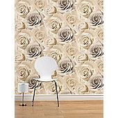 Madison Rose Floral Wallpaper - Natural - 119504