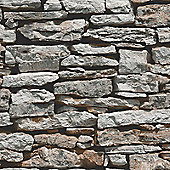 Moroccan Wall Natural Slate Stone Wallpaper - Arthouse 623000