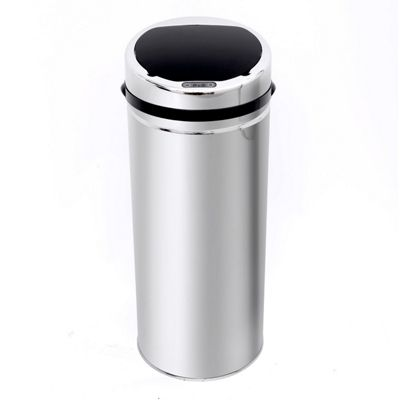 Homcom 50L Sensor Dustbin Kitchen Stainless Steel with Bucket in Chrome