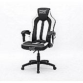 BraZen Stealth 4.0 Surround Sound Bluetooth PC Gaming Chair Black/White