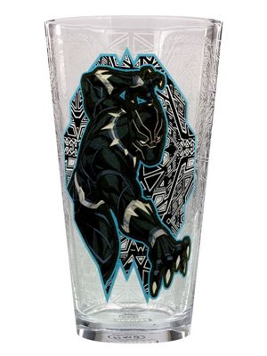 Marvel Black Panther For The Glory Of Wakanda Drinking Glass 9 x 15cm