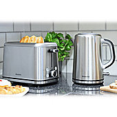 Brabantia BQPK01 Breakfast Set Kettle and 2 Slice Toaster - Brushed Stainless Steel