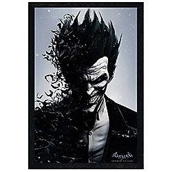 Black Wooden Framed Batman Arkham Origins Joker Poster