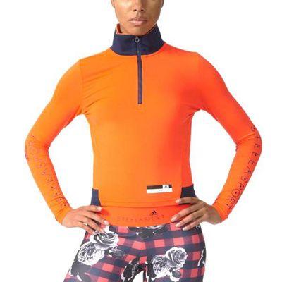 adidas Womens Stella McCartney Stellasport Half-zip Long Sleeve Tee - L