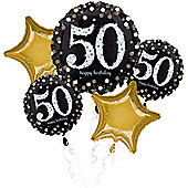 50th Birthday Sparkling Celebration Balloon Bouquet - Assorted Foil