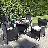 BillyOh Rosario Flat Weave Rattan 4 Seater Round Dining Set Range - Includes Cushions