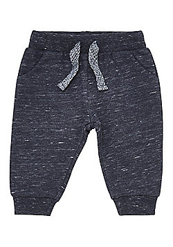 F&F Space Dye Slim Leg Joggers - Navy
