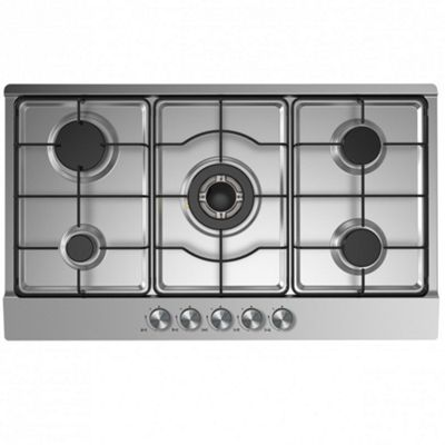 Cookology GH900SS | 90cm Built-in 5 Burner Gas Hob in Stainless Steel & LPG Jets