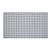 Homescapes White Geometric Black Diamond Chindi Rug, 150 x 240 cm