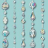 Crystal Jewels Wallpaper - Teal - 670801