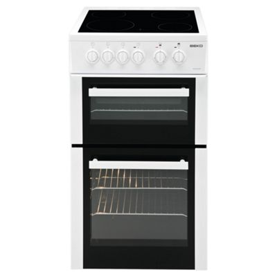 Beko Double Electric Oven and Grill, 50cm Wide, BDVC563AW - White
