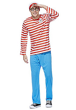 Where's Wally? Adult Dress-Up Costume - Red