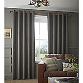Catherine Lansfield Brushed Heritage Plain Curtains - Grey