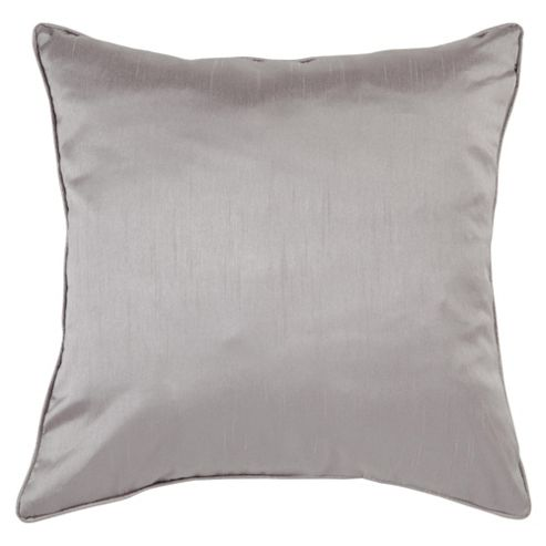 Tesco Faux Silk Cushion Silver