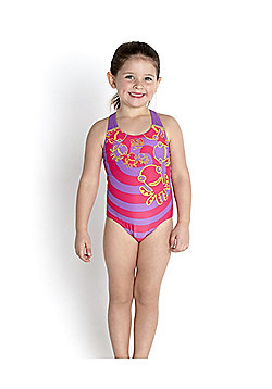 Speedo Infant Girl's 'Seasquad' Placement Swimsuit - Pink