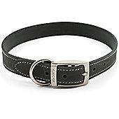 Ancol Timberwolf Grey Leather Collar - Size 6