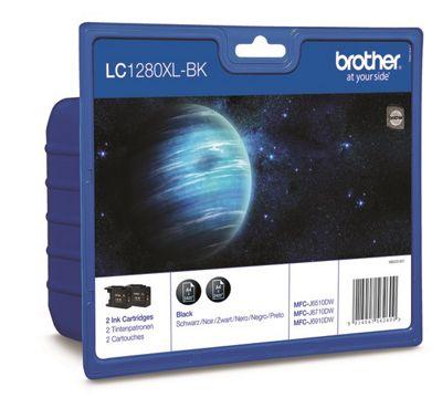 Brother LC1280XL-BK printer ink cartridge - 2 pack (Black)