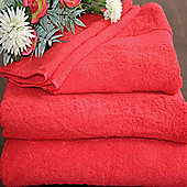 Homescapes Turkish Cotton Red Face Towel