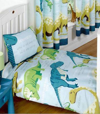 Dinosaur Facts Double Duvet - Blue