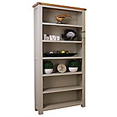 Aspen Painted Sage Grey Tall Oak Bookcase