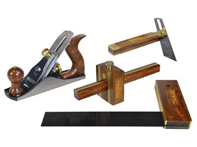 Faithfull Plane & Woodworking Set of 4 in Wooden Box