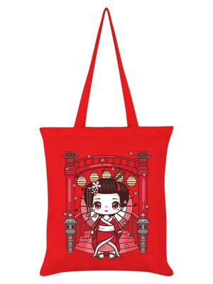 Mio Moon Oriental Adventure Red Tote Bag 38x42cm