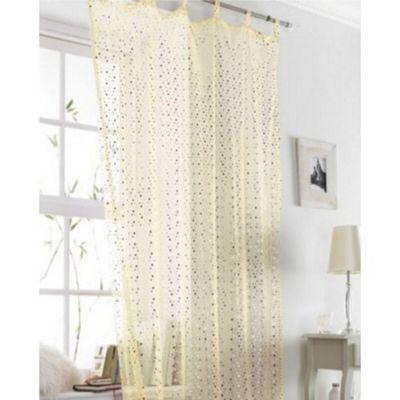 Cream / Gold Voile Curtain