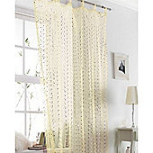 Cream / Gold Voile Curtain