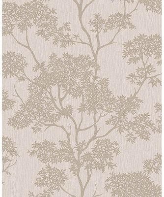 Aspen Sidewall Taupe & Gold Wallpaper