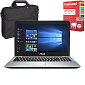 "ASUS X555DG-XO100T 15.6"" Laptop AMD A10-8700P Quad Core 8GB 1TB Win 10 with Internet Security & Case"