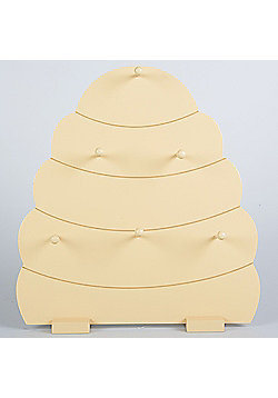 Hive - Beehive Display With 6 Hooks - Cream