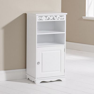 Elements Corella Floor Cupboard in White