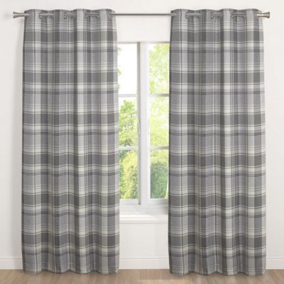 Julian Charles Inverness Silver Lined Woven Eyelet Curtains - 90x72 Inches (229x183cm)