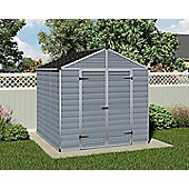 Palram Skylight Grey Plastic Shed, 8x8ft