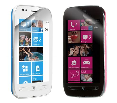 Works with Nokia Licensed Screen Protector for Nokia Lumia 710 - Clear (Pack of 2)