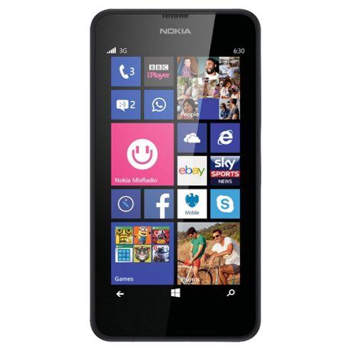 Tesco Mobile Nokia Lumia 630 Black
