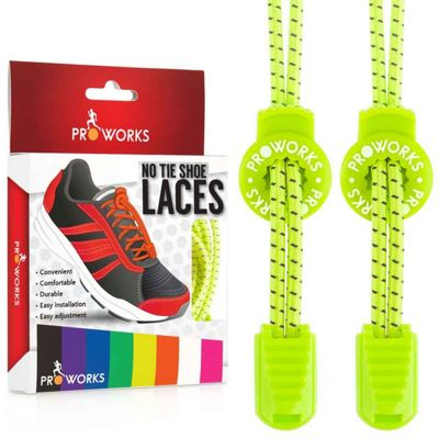 ProWorks No Tie Yellow Reflective Shoe Laces