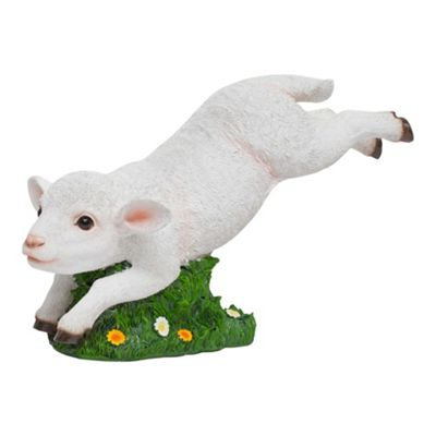 Realistic Jumping Spring Lamb Garden Animal Ornament