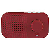 Tesco DR1403R 1.5W Compact Portable FM/DAB Digital Radio - Red